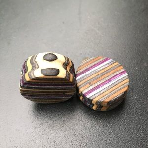 Jewelry - Custom plugs made from used skateboards